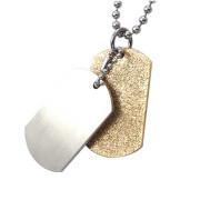 Ocelový přívěs dvojdestička se zlatým pískováním 11.00039