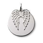 Stříbrný přívěsek andělská křídla s vlastním textem