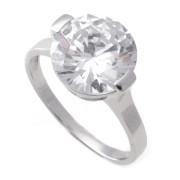 Zlatý zásnubní prsten s velkým zirkonem 010.00234