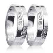 Snubní prsteny z bílého zlata 04.K50