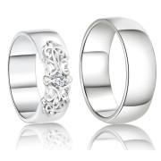 Stříbrné snubní prsteny Ron a Bridgite 044