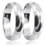 Stříbrné snubní prsteny 04.R1