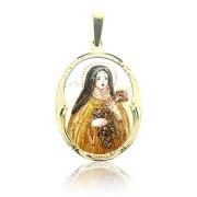 Zlatý přívěsek madonka v hnědém rouše sv.Tereza 230.00005