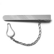 Stříbrná kravatová spona s řetízkem 01.00002