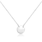 Stříbrný náhrdelník s kulatou destičkou JMAS8200SN