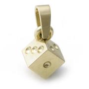 Zlatý přívěsek hrací kostka 09.00001