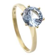Zlatý prsten se syntetickým akvamarínem 900.00058