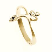 Zlatý prsten had s kamínkem 010.00337