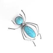 Stříbrná brož - pavouk s tyrkysovým tělem a hlavou 04.890.00001