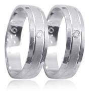 Stříbrné snubní prsteny K63