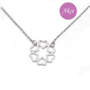 Stříbrný náhrdelník se srdíčky RKPLBL0104