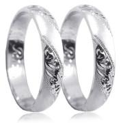 Snubní prsteny z bílého zlata 04.P4R15