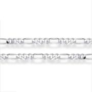 Stříbrný řetízek figaro 3+1 000.00025