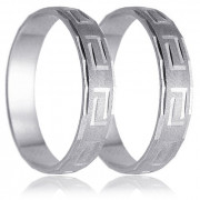 Snubní prsteny - bílé zlato 04.HK004