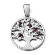 Stříbrný přívěsek strom života s granáty 970.00010