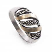 Prsten z portugalského stříbra s markazity AF6523