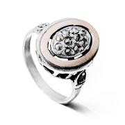 Stříbrný prsten s markazity AS-ISAN180