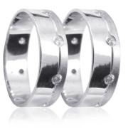 Snubní prsteny z bílého zlata 04.K25