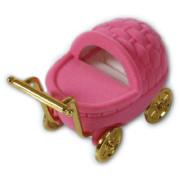 Dárková krabička na šperky kočárek růžový 18706-20