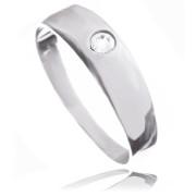Zlatý prsten s jedním kamínkem bílé zlato 010.00175