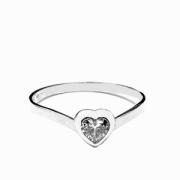 Zlatý prsten srdíčko bílé zlato 388B