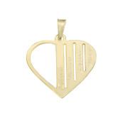 Zlatý přívěsek srdce s vlastním textem ZZ10.heartgrav