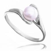 Zlatý prsten s perlou bílé zlato 740.00001