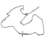 Stříbrný řetízek křížek AGS1115