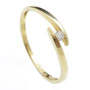 Zlatý zásnubní prsten s briliantem 990.00001