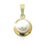Zlatý přívěsek s perlou žluté zlato 740.00008