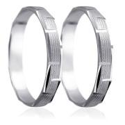 Snubní prsteny - bílé zlato 04.HK009