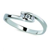 Zlatý prsten se zirkony 2072