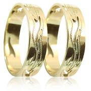 Snubní prsteny ze žlutého zlata 04.A7