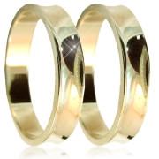 Snubní prsteny z bílého zlata 04.U4