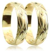 Snubní prsteny ze žlutého zlata 04.P5R2