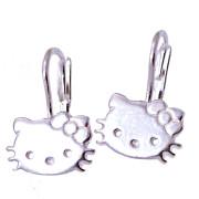 Stříbrné náušnice kočičky 000.00064