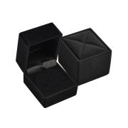 Krabička sametová obdelník černá RE02