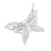 Stříbrný přívěsek prořezávaný motýl 000.00108