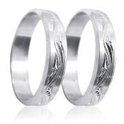 Stříbrné snubní prsteny 04.U4R1.01