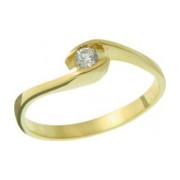 Zásnubní prsten ze žlutého zlata 05.B226866