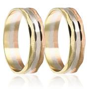 Snubní prsteny - kombinace zlata 04.B460