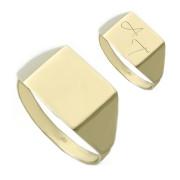Zlatý pánský pečetní prsten s monogramem R10.00004