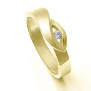 Zlatý prsten se zirkonem ZZ10.226021990