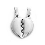 Stříbrný přívěs srdce půlené Anno 000.00044