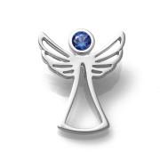 Zlatý přívěsek anděl s tmavě modrým zirkonem 080.00001