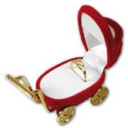 Dárková krabička na šperky kočárek červený 18706-12