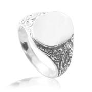 Stříbrný pánský prsten pečetní oválek 000.00022