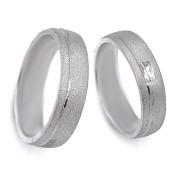 Stříbrné snubní prsteny 04.Ilon04
