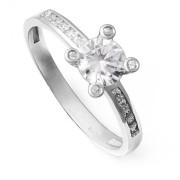 Zlatý luxusní zásnubní prsten s kameny 226022207