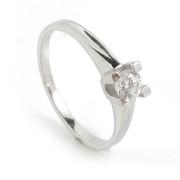 Zásnubní prsten z bílého zlata se zirkonem 010.00100